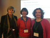 Lucia Thesen (U of Cape Town) with Sheila Trahar and Lisa Lucas (UoB)